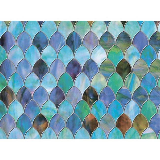 Brewster Home Fashions PF0710 Peacock Sidelight Premium Film - 11. 5 inch