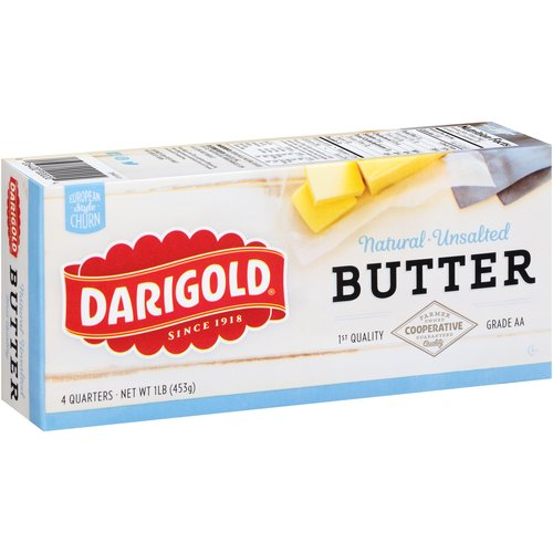 Darigold Natural Unsalted Butter, 1 lb