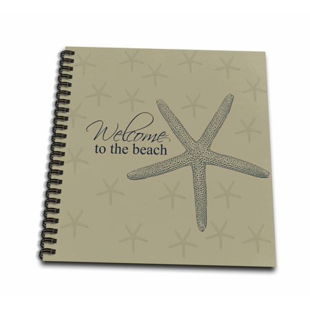 3dRose Welcome to the Beach Starfish - Mini Notepad, 4 by 4-inch