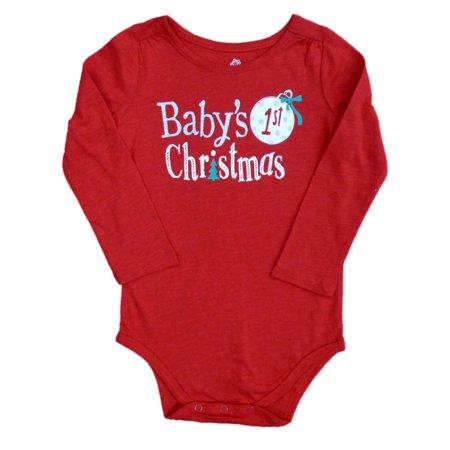 8607091ed Okie Dokie - Okie Dokie Infant Girls Babys 1st Christmas Holiday Creeper  Bodysuit - Walmart.com