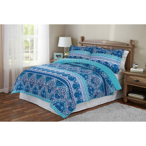 Mainstays Reversible Paisley Quilt by Keeco