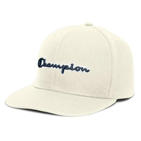 38db6d07e4499 Champion H0805-0YM  Baseball Snapback Hat with Script CHALK - Walmart.com