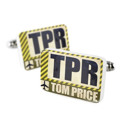 Cufflinks Airportcode Tpr Tom Priceporcelain Ceramic Neonblond