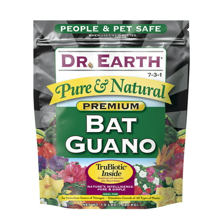 Jamaican Bat Guano - Dr. Earth Organic & Natural Bat Guano, 1.5 lb