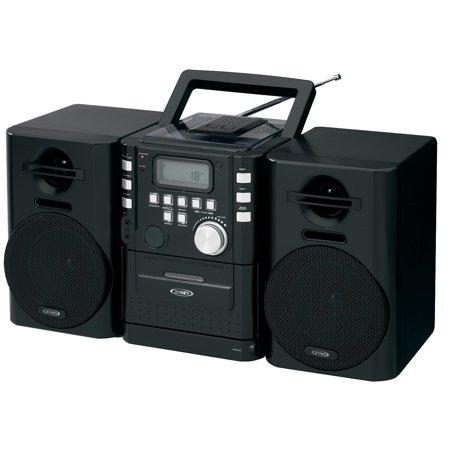 Ipod Sound System Reviews - Jensen Hi-Fi Audio Stereo Cd Player & Tape Cassette Sound System With Digital FM Radio Tuner Plus 6ft Aux Cable to Connect Any Ipod, Iphone or Mp3 Digital Audio Player
