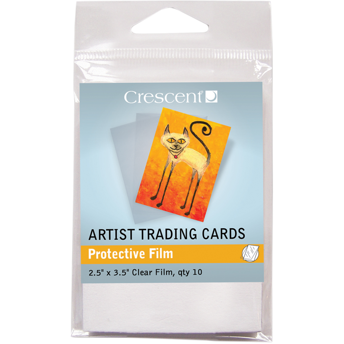 "Crescent Artist Trading Cards 2.5""X3.5"" 10/Pkg-Protective Films"