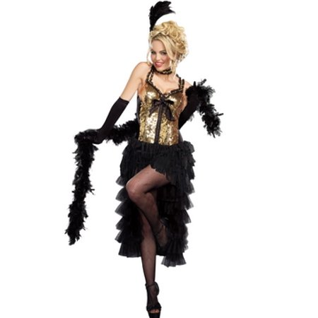 Burlesque Bombshell Costume 9565 by Dreamgirl Gold