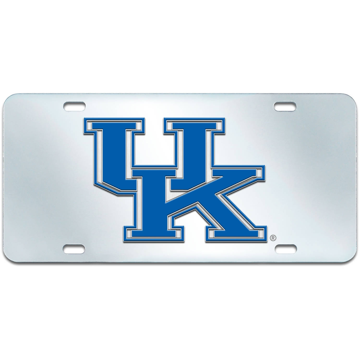 FANMATS NCAA University of Kentucky Wildcats Chrome License Plate Frame