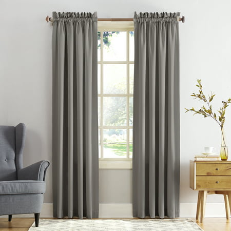Sun Zero Kylee Energy Efficient Rod Pocket Curtain Panel ()