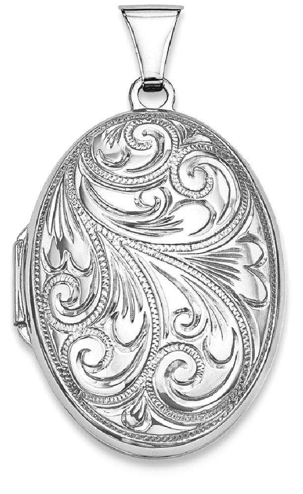 ICE CARATS ICE CARATS 925 Sterling Silver Scroll Oval Photo Pendant Charm Locket Chain Necklace That Holds Pictures Fine... by IceCarats Designer Jewelry Gift USA