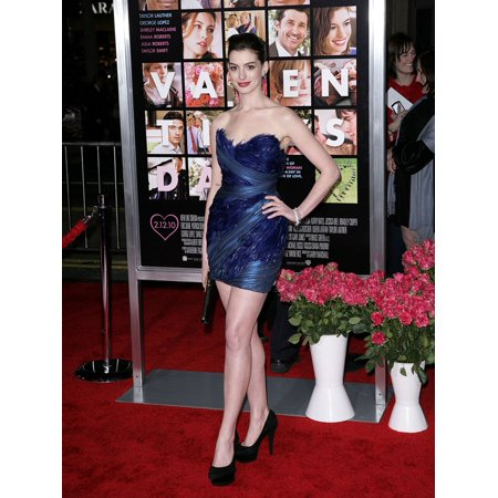 Anne Hathaway At Arrivals For ValentineS Day Premiere GraumanS Chinese Theatre Los Angeles Ca February 8 2010 Photo By James AmherstEverett Collection Celebrity (Free Valentine Ca)