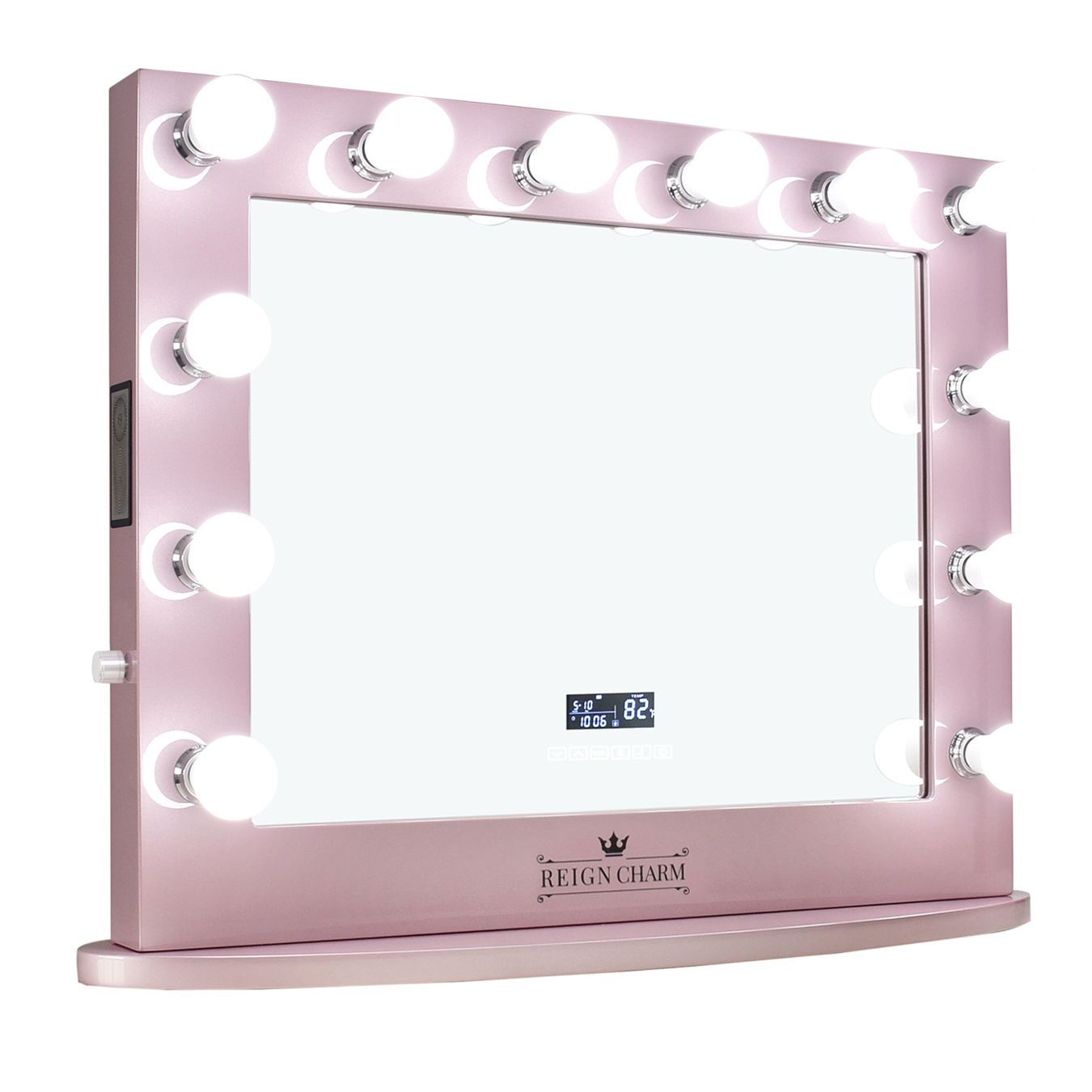 Reigncharm Hollywood Vanity Mirror With Bluetooth Speakers 12 Led