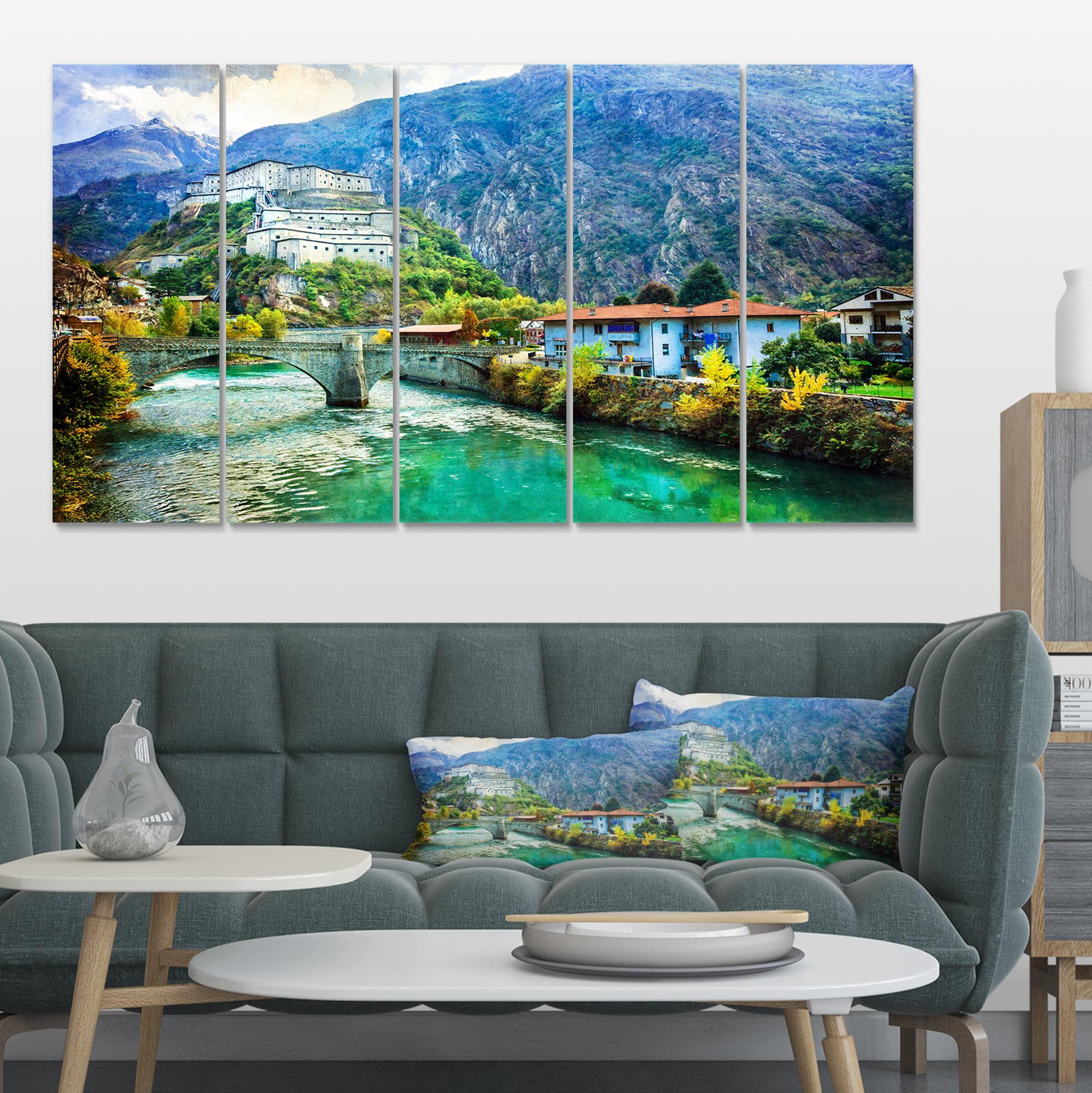 Valle d Aosta Castles Italy - Landscape Canvas Art Print - image 4 of 4