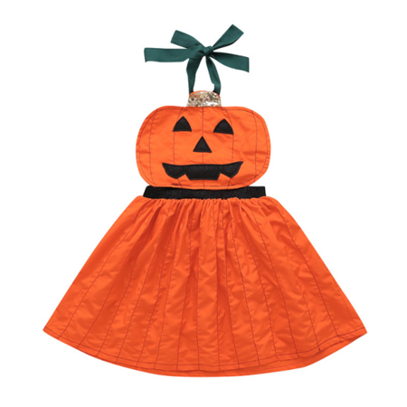 Celebrity Fancy Dress Halloween (Toddler Kids Baby Girl Pumpkin Dresses Overall Halloween Fancy Party)