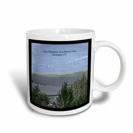 3dRose Lake Champlain, from Battery Park, Burlington, VT (Colorized Vintage 1904) - Ceramic Mug, 11-ounce ()