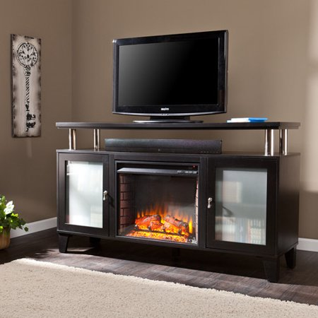 Southern Enterprises Corine Electric Fireplace Media Console, for TV;s up to 60;, Black