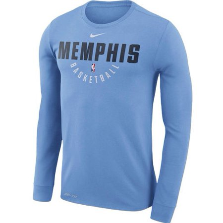 Memphis Grizzlies Nike Practice Long Sleeve Performance T-Shirt - Blue
