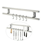 1pc Wall-mounted Magnetic Knife Holder Double Bar Knife Rack for Knives Utensils and Kitchen Sets