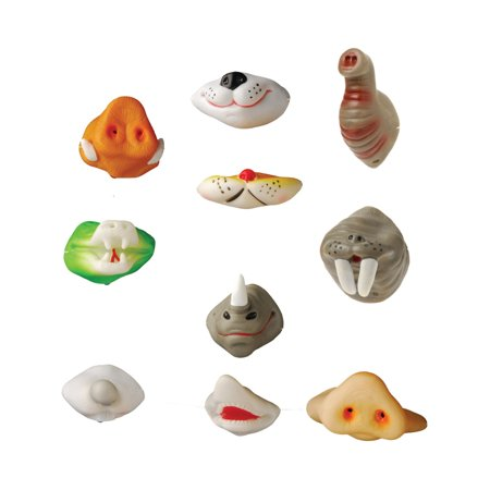 Animal Noses (Zoo Animal Noses 12 Pack Funny Wedding Party Costume)