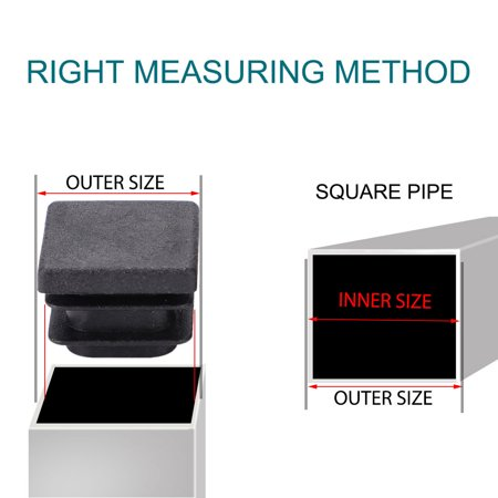 """Square Tube Inserts Furniture Floor Protector for 0.75"""" to 0.83"""" Inner Size 6pcs - image 5 of 7"""