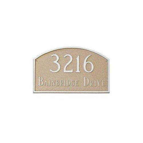 Montague Metal PCS-47P Petite Prestige Arch One Line Address Plaque Hunter Green by Brand New