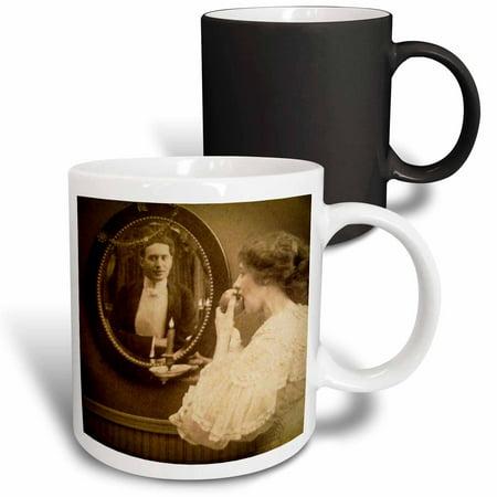 3dRose Victorian Halloween Magic Mirror Spooky Vintage 1890 - Magic Transforming Mug, - Halloween Magic Mirror Software