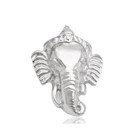 Silver Ganesh Elephant Head Indian God Necklace Pendant Charm Jewelry