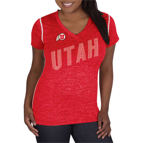 NCAA Utah Utes Ladies Classic-Fit Synthetic V-Neck Tee