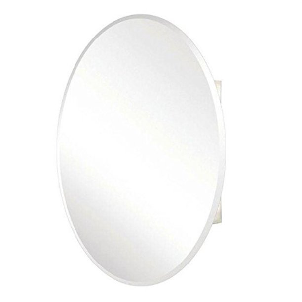 Pegasus Sp4583 36 Inch By 24 Inch Surface Or Recessed Mount Oval Beveled Mirror Medicine Cabinet Clear Walmart Com Walmart Com