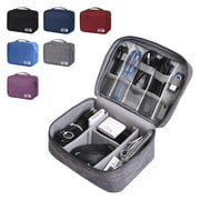 Electronic Organizer Travel Universal Cable Organizer Electronics Accessories Storage Bag Gadget Gear Cases for Kindle, Smartphone, Cable, Charger