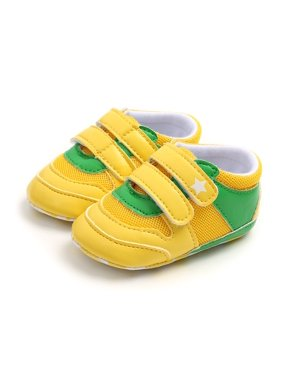 Autumn 0-18M Baby Boys Walking Shoes Breathable Anti-Slip Shoes Sneakers Toddler Soft Soled Patchwork Color infant Sneakers