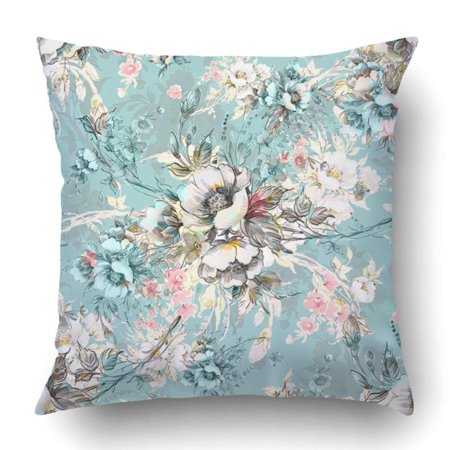 ARTJIA Watercolor Bouquet Of Wildflowers B Beautiful Exquisite Sketches Pencil Pillowcase Cover Cushion 18x18 inch Ribbed Pencil Cushions