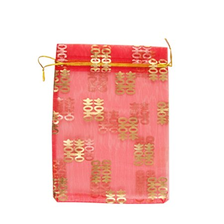 ... 20pcs Chinese Double Happiness Wedding Organza Gift Bag - Walmart.com
