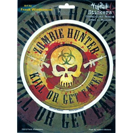 Frank Wiedemann - Zombie Hunter - Large Sticker / Decal - Large Stickers