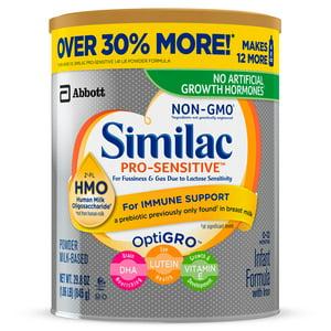 Similac Pro-Sensitive Infant Formula with Iron, with 2
