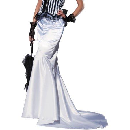 Womens Club Burlesque Elegant Formal White Fantail Skirt](Burlesque Clothes)