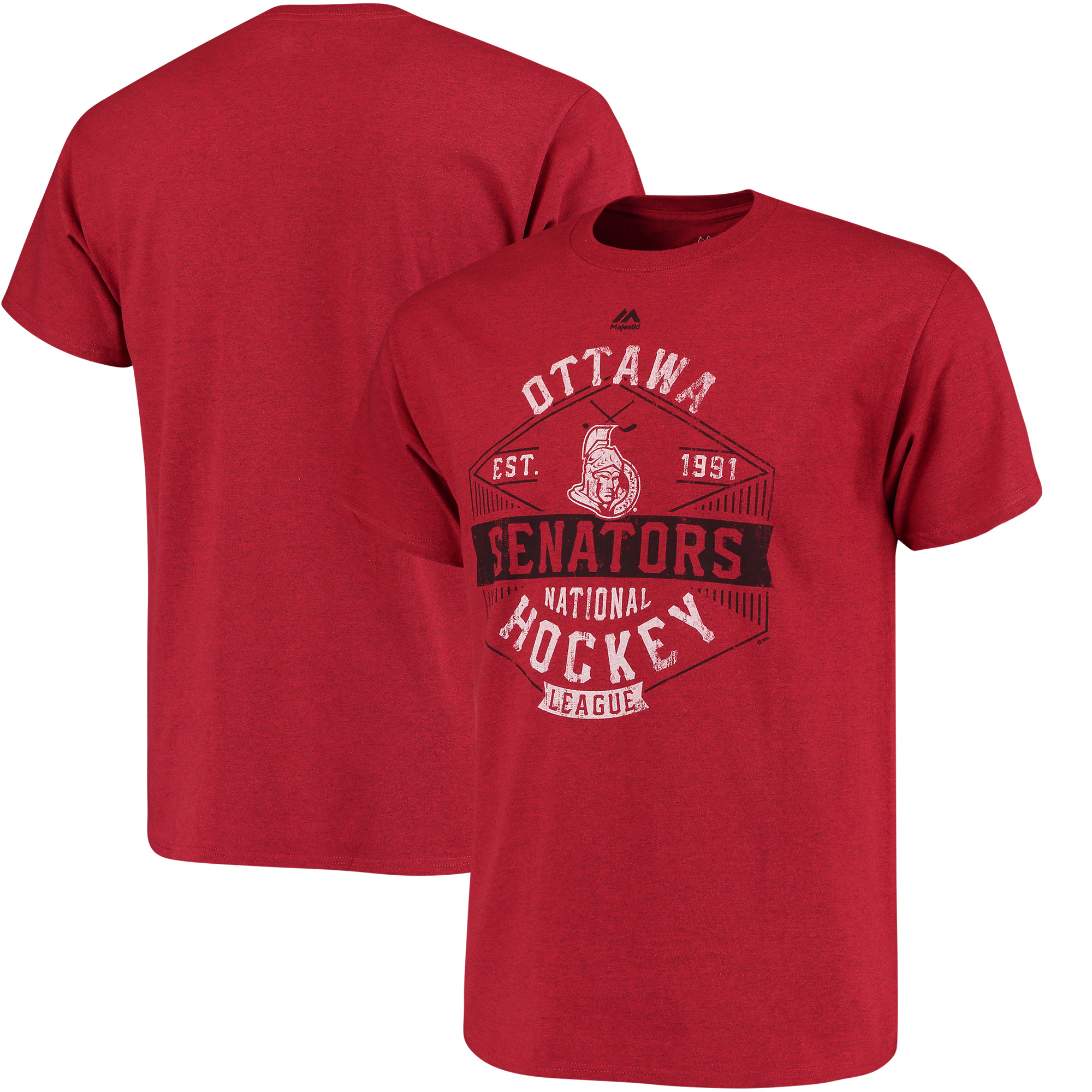 Ottawa Senators Majestic Expansion Draft T-Shirt - Red