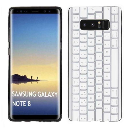 [Tech Cover] Samsung Galaxy Note 8 (Black) Slim Impact Resistant Armor  Cover Case [Keyboard Print]