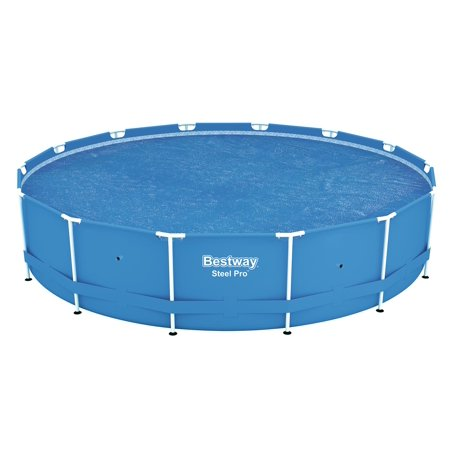 Bestway 14' Round Floating Above Ground Swimming Pool Solar Heat Cover | (Best Way To Clean A Boat Cover)