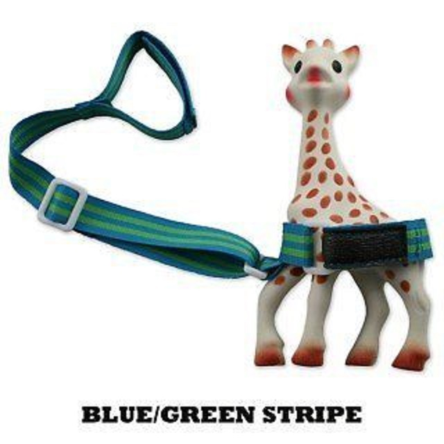 Booginhead SippiGrip - Blue/Green Stripe