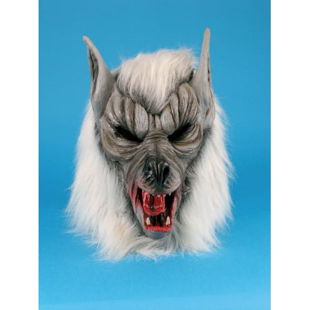 Scary Halloween Face (Star Power Halloween Scary Werewolf Animal Mask, Grey, One)
