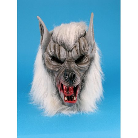 Star Power Halloween Scary Werewolf Animal Mask, Grey, One Size](Scary Rabbit Mask Halloween)