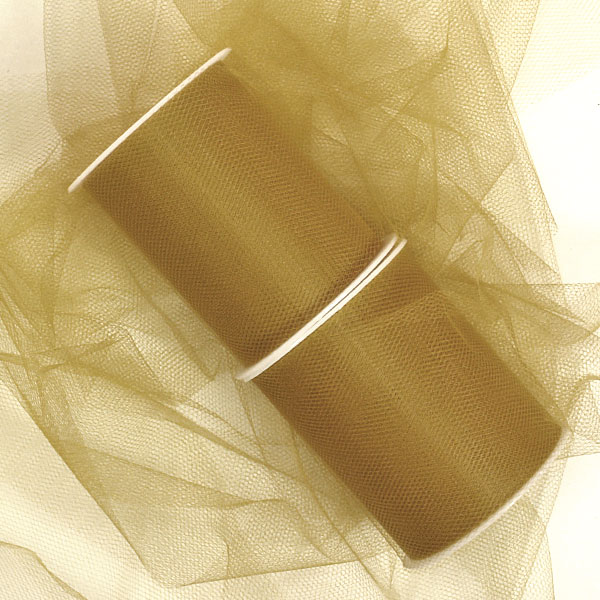 "Old Gold Tulle 3"" X 25 Yards by Paper Mart"