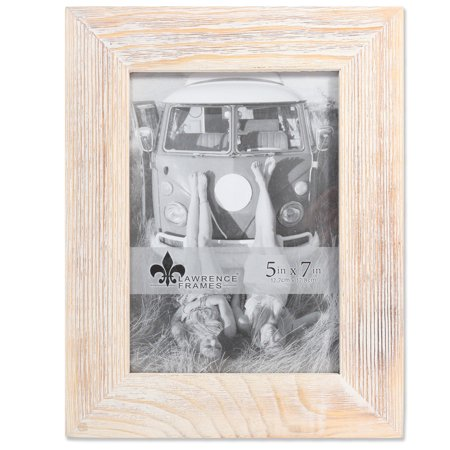 5x7 Sarasota Whitewash And Weathered Natural Wood Picture Frame by Lawrence Frames