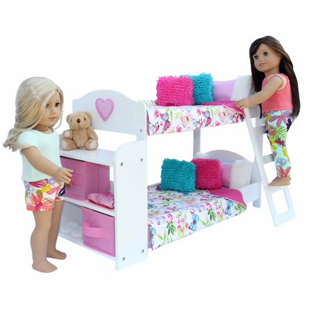 20 Pc Bedroom Set For 18 Inch American Girl Doll Includes Bunk Bed
