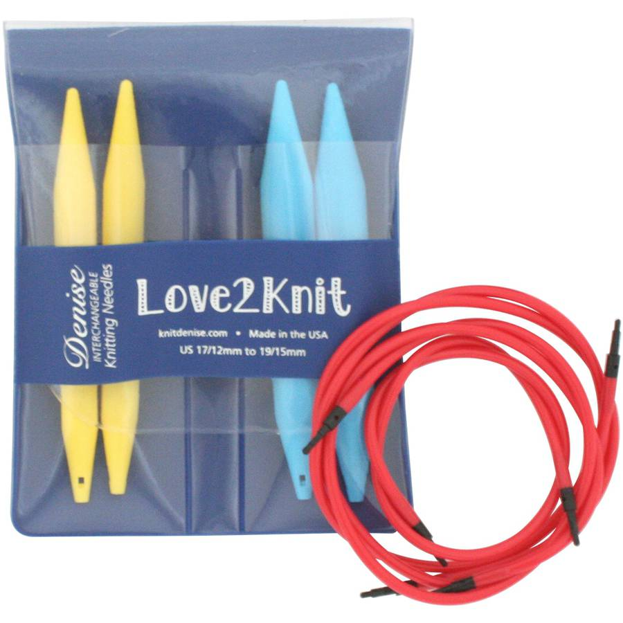 Love2knit Interchangeable Knitting Needle Set, Size 17 and 19