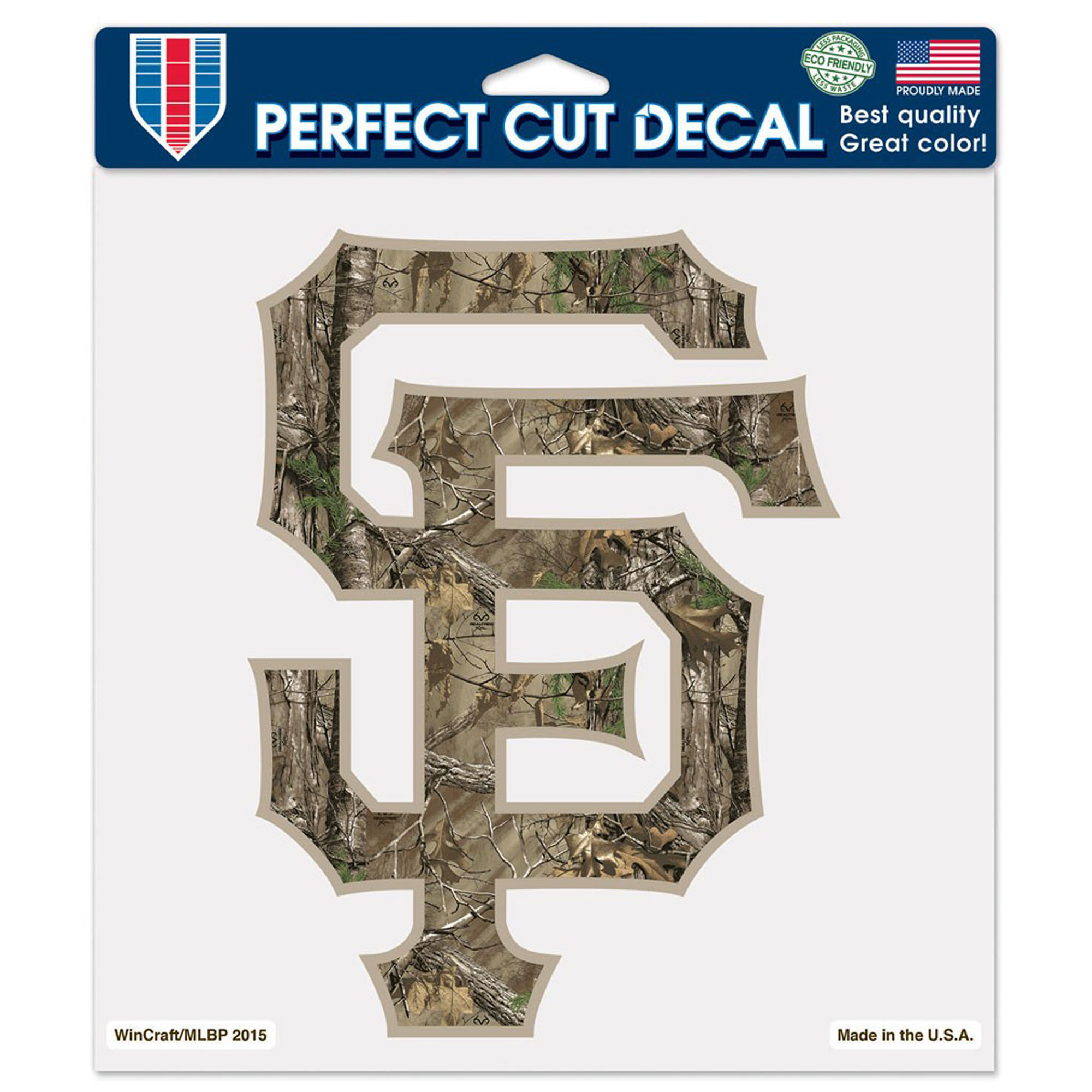 """San Francisco Giants WinCraft Realtree 8"""" x 8"""" Color Decal - No Size"""