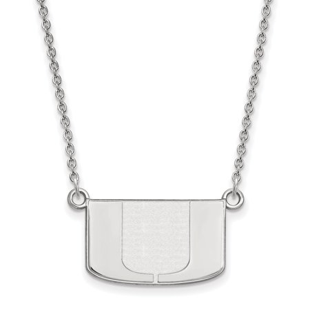 Roy Rose Jewelry Sterling Silver Logoart University Of Miami Small Pendant Necklace