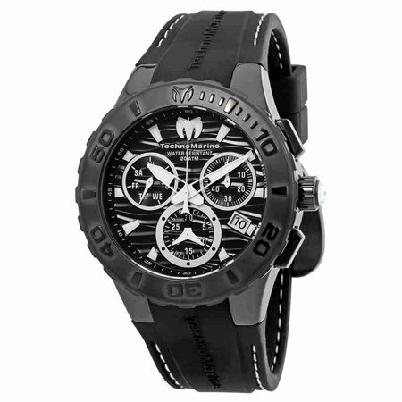 TechnoMarine Cruise Medusa Chronograph Black Dial Mens Watch 115081 ()