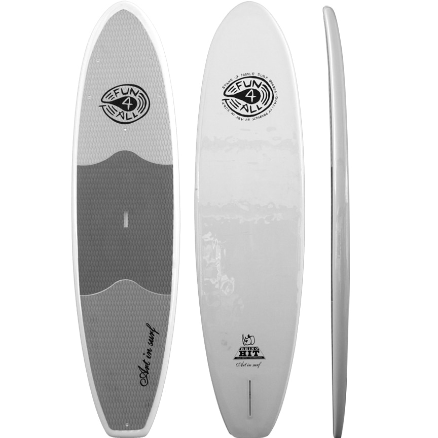 """Art in Surf Rhino 10'6"""" HIT Fun for All White Stand-up Paddle Board (SUP) by Overstock"""